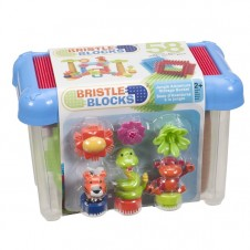 Bristle Blocks- Jungle Adventure Storage Bucket - 58 Pieces
