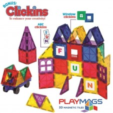 PlayMags- 60 Pieces Window Clickins Set
