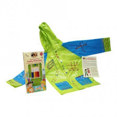 Little Pals- Funky Raincoat  - Blue/Green