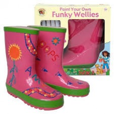 Little Pals- Funky Wellies - Pink (Large)