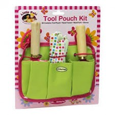 Little Pals- Garden Tool Pouch Kit - Pink