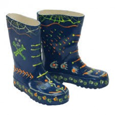 Little Pals- Glow Wellies - Blue (Large)