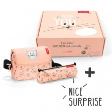 Reisenthel Surprise Box - Cats and Dogs Rose