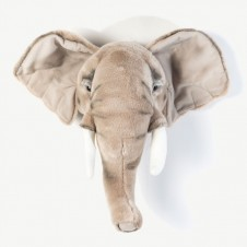 "Beige Elephant ""George"" Trophy Head"