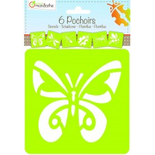 Set of 6 Assorted Insects Stencils