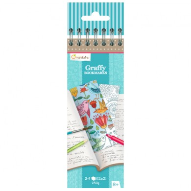 Graffy Bookmark - Mandala Flowers