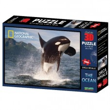 National Geographic The Ocean Orca Whale Super 3d Puzzle