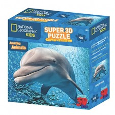 National Geographic Super 3D  Puzzle - Dolphin