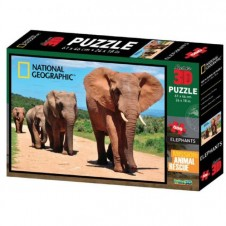 National Geographic Super 3D  Puzzle - Elephants