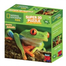 National Geographic Super 3D  Puzzle - Tree Frog